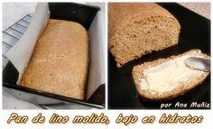 receta pan de lino molido