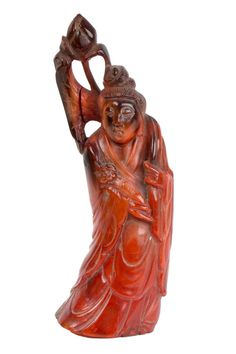 China 19. Jh. Hornfigur - A Chinese Horn Figure of Ho Hsien Ku - Cinese Chinois