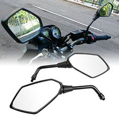 Atpmtas® Pair of Black Motorcycle Rear View Mirrors with 10mm Clockwise Threaded Mounting Bolt - http://www.caraccessoriesonlinemarket.com/atpmtas-pair-of-black-motorcycle-rear-view-mirrors-with-10mm-clockwise-threaded-mounting-bolt/  #10Mm, #Atpmtas, #Black, #Bolt, #Clockwise, #Mirrors, #Motorcycle, #Mounting, #Pair, #Rear, #Threaded, #View #Motorcycle, #Parts