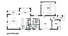 Modern Style House Plan - 4 Beds 2.50 Baths 3584 Sq/Ft Plan #496-18 Floor Plan - Main Floor Plan - Houseplans.com