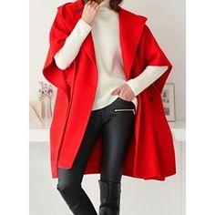 BOBOYU Mens Fleece Wool Blend Faux Fur Hood Winter Loose Warm Trench Coat Pea Jacket Overcoat