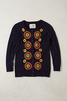 Embroidered Soleil Cardigan #anthropologie. There's always room in the closet for another cardi!