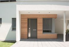 Remarkable revamped entrance porch design her comment is here Flat Roof House Designs, Living Haus, Porch Kits, Building A Porch, House With Porch, House Entrance, Facade House, House Facades, Modern House Plans