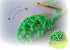 Semi circulo trozo de tarta crochet