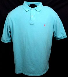 Polo Ralph Lauren Turquoise Shirt Size 2XLT Tall Short Sleeve 100% Cotton Casual #RalphLauren #PoloRugby