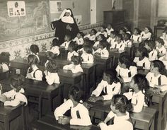 Sister Francis Borgia teaching at Our Lady of Charity in Havana in 1951.