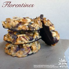 Recipe Florentines by Cooking in the Chaos, learn to make this recipe easily in your kitchen machine and discover other Thermomix recipes in Baking - sweet. Christmas Treats, Christmas Recipes, Biscuit Cookies, Cereal Recipes, Christmas Cooking, No Bake Desserts, Tray Bakes, Baked Goods, Sweet Recipes