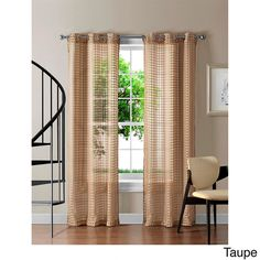 The Jacob Grommet-top sheer panel infuses a light and airy fabric with horizontal bands of color for privacy. Unlined, for light exposure. Rod slips effortlessly into grommets. Panel glides smoothly for easy open and close.   #Window #HomeDecor #VCNYHome