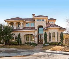Plan W36145TX: Mediterranean, Photo Gallery, Luxury, Premium Collection, European, Corner Lot House Plans & Home Designs