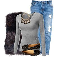 Designer Clothes, Shoes & Bags for Women Black Fur Vest, Boyfriend Jeans, Shoe Bag, Casual, Clothes, Shopping, Collection, Design, Women