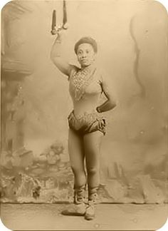 Mademoiselle LaLa -- the only photograph of the famous Victorian acrobat known across Europe.