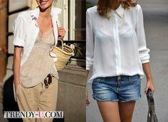 Белая блузка и рубашка - это маст