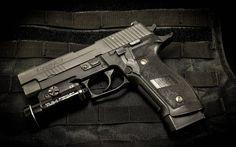 фонарик, sig-sauer, p226, оружие, пистолет