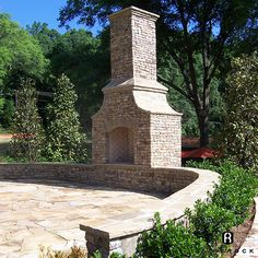 outdoor fireplace with curved wall - Google Search