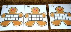 FREE Ten Frames and more for Gingerbread Theme (save until next winter!)