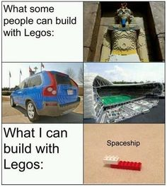 Id like to think I've  built great Lego masterpieces,and believe me some of the best guns can be made with legos but they usually look like the last picture! #relatable