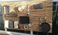 """""""Clever percussion wall at Oac Cammeray campus showcases recycling and musical fun to the children. Reggio Inspired Classrooms, Reggio Classroom, Outdoor Classroom, Outdoor School, Eyfs Outdoor Area, Preschool Rooms, Preschool Playground, Family Day Care, Cubby Houses"""