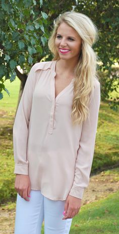 Let's Talk About Taupe Blouse #new