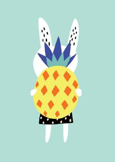 Becky Baur Bunny and pineapple