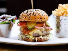 "It's in the name. In its multiple London locations, the menu is straightforward and the burgers are some of the best the capital has to offer - from classics to a garlic-butter-smothered lobster, or an indulgent combination of the two for days when meat or seafood alone will not suffice. [i][link url=""https://www.burgerandlobster.com/en/menu""]burgerandlobster.com[/link][/i]"