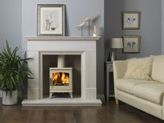 clear view cream log burner - Google Search