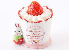 OKayama|Sweets|HAKUJUJI|岡山|スイーツ| 白十字|【数量限定】うさぎプリン    キュートなうさぎの陶器になめらかなプリンを入れて苺をトッピングしました。[ ¥420 ]*販売期間:2/22(金)〜2/28(木)*数量限定の為売り切れの際はご容赦下さいませ。