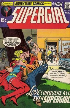 Supergirl in Adventure Comics #402. Supergirl's in love again. Why do I feel it's all going to go horribly wrong?  #Supergirl #AdventureComics