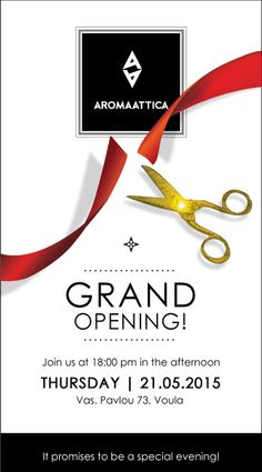 Banners for the opening of the shop Arommaatica Visiting Card Templates, Grand Opening, Banners, Behance, Store, Cards, Opening Day, Business Card Templates, Banner