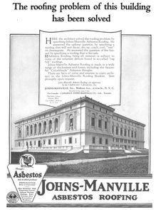 Johns Manville asbestos roofing