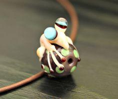 Hugh the Ivory Glass Fantasy Animal Bead Artisan by blancheandguy, $29.00
