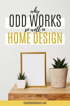 Home design trick from a professional interior designer. Always use groups of odd numbers wherever possible for arranging ornaments, candles, and pretty much any home items - and heres why… Home Design Decor, House Design, Interior Design, Home Decor, Organizing Your Home, Home Organization, Hanging Art, Simple House, Better Homes