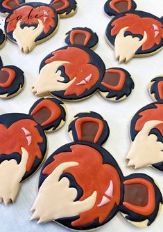 Scar from the Lion King Cookies. Call or email to order your celebration cookies today. Click the link below for more information. #LionKing #Cookies #RoyalIcing #CookieArt #Decorating #CookieIdeas #Party #Desserts #DessertIdeas #Desserttables #Scar #Disney #DisneyVillains #Celebrate #partyideas #halloween #HalloweenDesserts