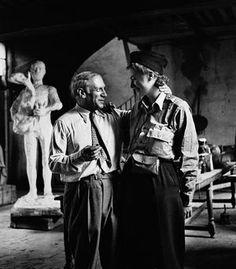 ee Millere Picasso depois da libertação de Paris, Paris, França, 1944