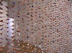 origami crane curtain