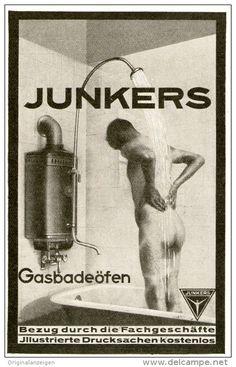 Original-Werbung/ Anzeige 1928 -  JUNKERS GAS- BADEÖFEN - ca. 65 x  110 mm