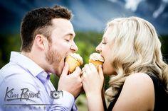 Cupcake Engagement Photos, Banff engagement wedding photographer, www.kimpayantphotography.com