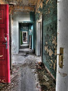 Abandoned asylum....contrast