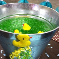 Baby Shower Punch Bowl. So Cute! Would Use Camo Duckies For My Sisters  Shower