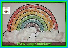 Fruit Loop rainbow art project!