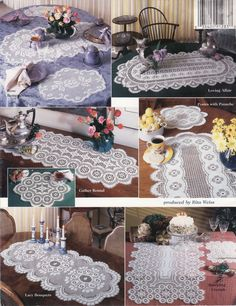 crocheted runner | Easy Crochet Pattern for Fall Placemats and a Table Runner