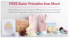 Free Easter printables from Moo.  So adorable!