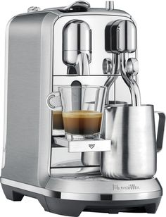 Breville Nespresso Creatista Plus. Receive personalized advice and obtain technical support for your machine: whatever you are seeking, the Nespresso Club is with you every step of the way. The Nespresso Club. Breville Espresso Machine, Machine A Cafe Expresso, Espresso Machine Reviews, Espresso Coffee Machine, Espresso Maker, Coffee Maker, Cappuccino Coffee, Coffee Barista, Iced Coffee Drinks
