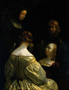 Woman at a Mirror: 1650