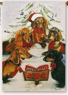 Garden Flag 12 x 18 Dachshund Choir Design by Ruth Maystead | eBay