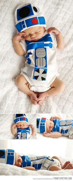 R2D2 newborn too cute