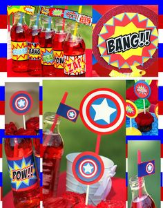 CAPTAIN AMERICA Collection - Super Hero Party- Superheroes - Boys Birthday Party - Krown Kreations & Celebrations