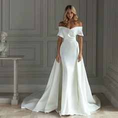 Princess Wedding Dresses, Dream Wedding Dresses, Satin Wedding Dresses, Gown Wedding, Fashion Wedding Dress, Big Bust Wedding Dress, Fall Wedding, Satin Mermaid Wedding Dress, Designer Wedding Dresses