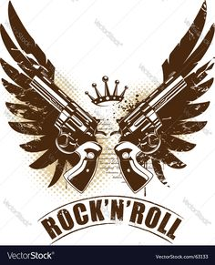 Rock n roll Vector Image by morys