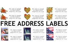 1000 ideas about free address labels on pinterest address label template christmas address. Black Bedroom Furniture Sets. Home Design Ideas