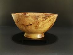 Spalted Apple tree bowl by Ervin Horn